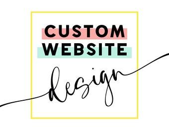 Custom Website Design / Custom Website / Photography / Website Design / Business Website Design