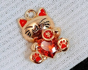 SALE BECKONING CAT inspired charm Necklace