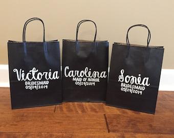 Personalized Gift Bags / Bridesmaid Gift Bags / Custom Gift Bags / Personalized Gift Bag / Custom Name Gift Bag / Paper Gift Bag / Groomsman