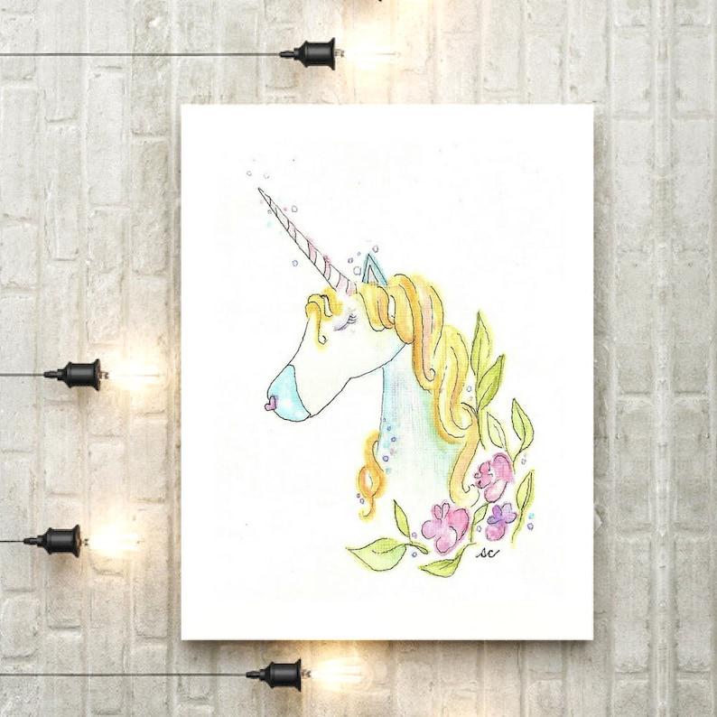 Unicorn Clipart Unicorn Printable Wall Art Print Unicorn Party Nursery Art Printable Art Nursery Decor Unicorn Birthday Unicorn Gift PDF