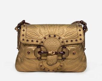 2d429df6abbc Gucci gold clutch | Etsy