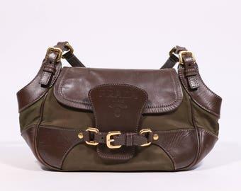 0e8e40e333 PRADA - Leather and nylon bag