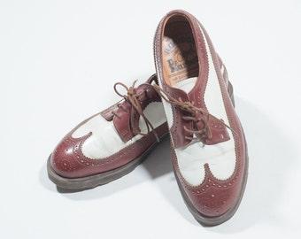 d0cbd2d61afe DR MARTENS - Leather bicolor shoes