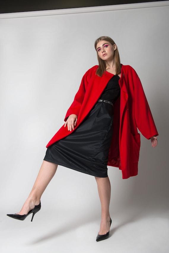 CELINE - Red wool coat