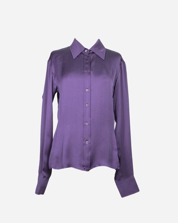 YVES SAINT LAURENT - Silk shirt