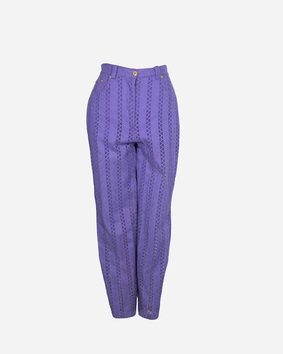 VERSACE - Violet Cotton pants