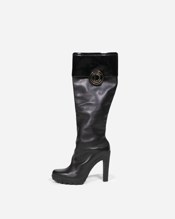 DIOR - Heeled leather boots