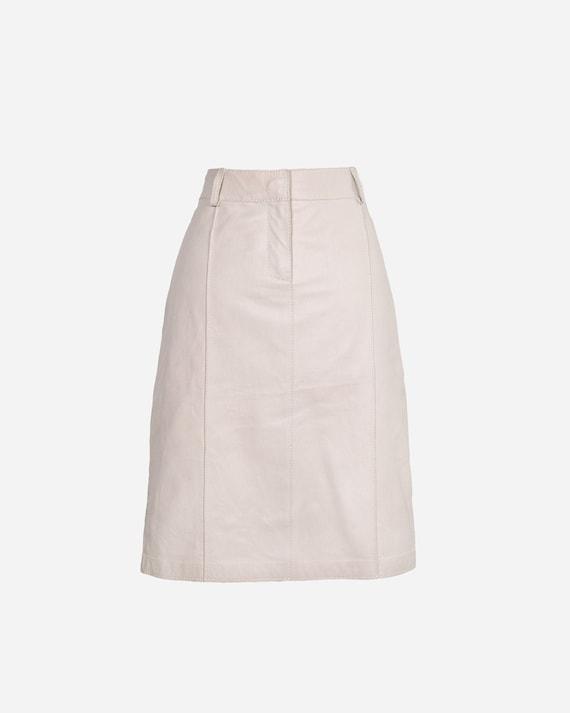 TRUSSARDI - Leather skirt