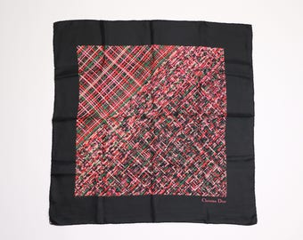 CHRISTIAN DIOR - silk scarf with pattern