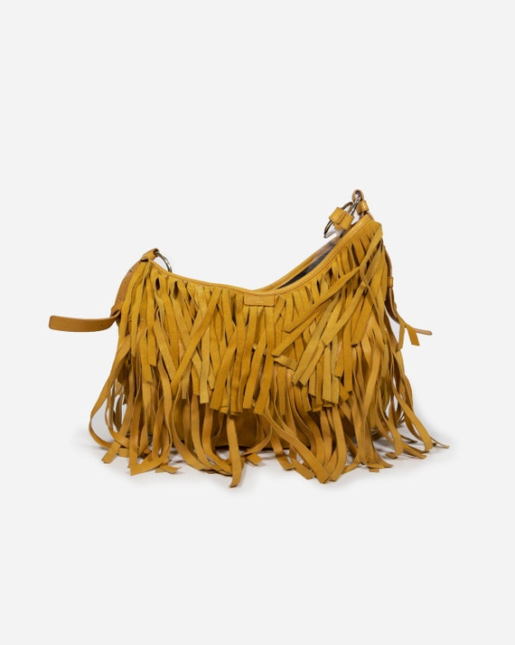 YVES SAINT LAURENT - Fringed bag