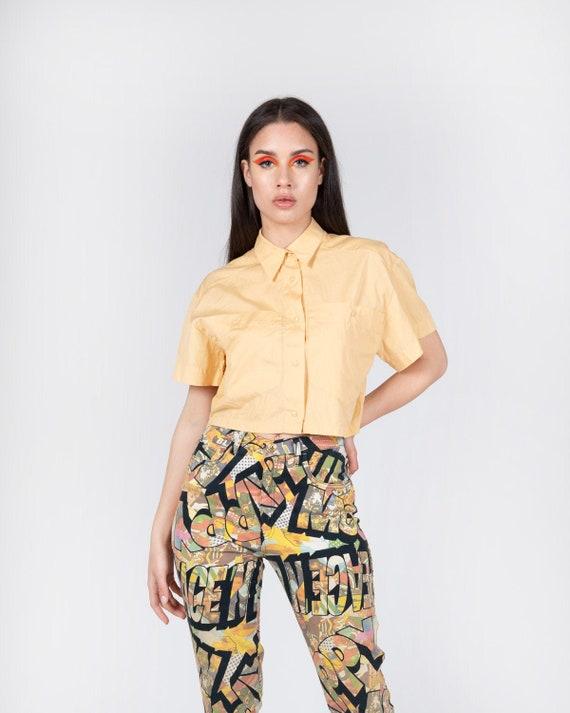 CLAUDE MONTANA - Crop shirt
