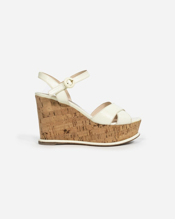 Prada - White leather shoes