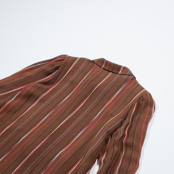 sleeved silk shirt long Brown SCHIAPPARELLI xX48w1qt