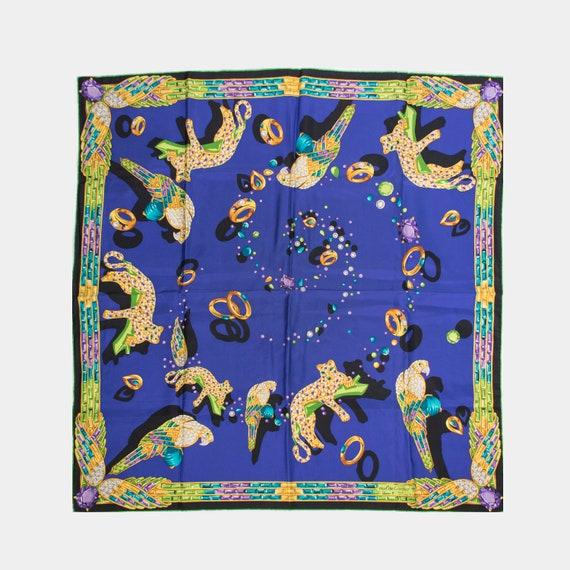 CARTIER - Blue Silk scarf