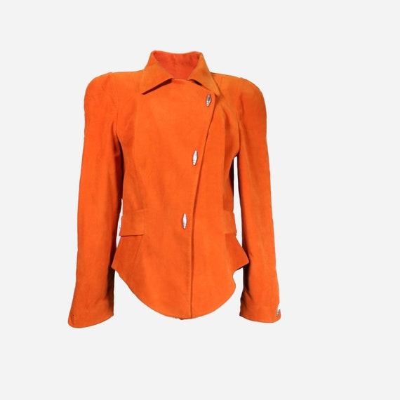 THIERRY MUGLER - Orange velvet jacket