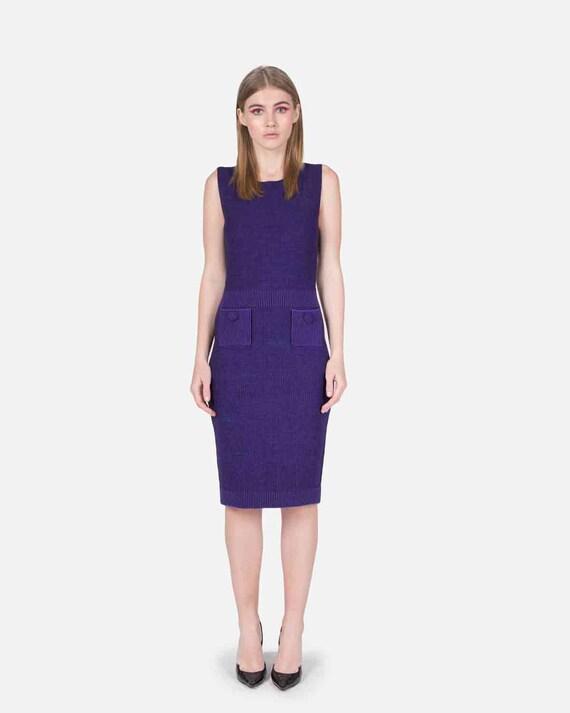 DIOR - Violet wool dress