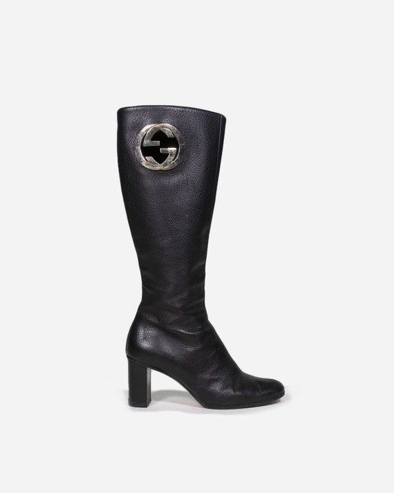 GUCCI - Heeled leather boots