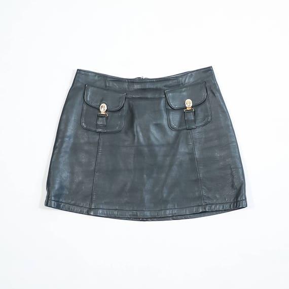 BLUMARINE - Leather miniskirt