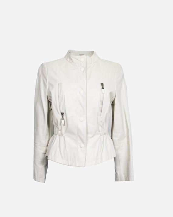 MONTANA - White leather jacket