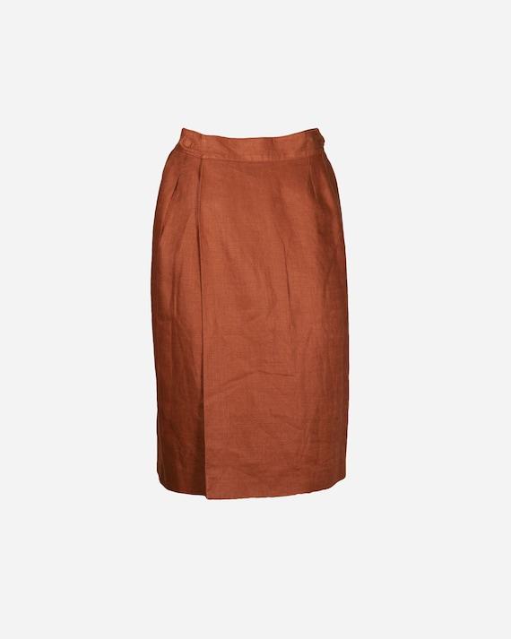 Hermès - Linen skirt
