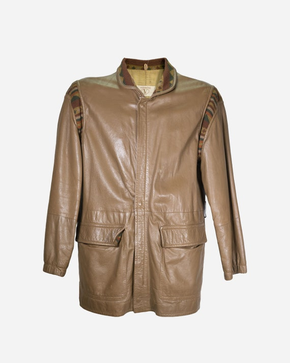 VALENTINO - Leather bomber jacket