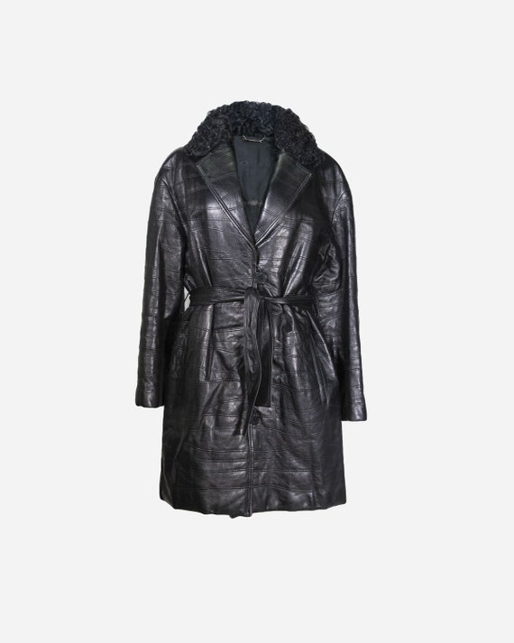 FENDISSIME - Leather trench coat