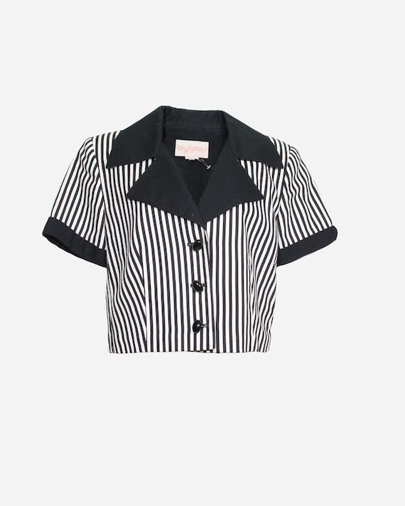 BYBLOS - Striped cropped jacket