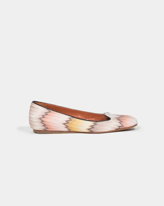 MISSONI - Flat fabric shoes