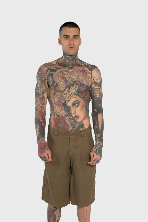 BALENCIAGA - Linen shorts