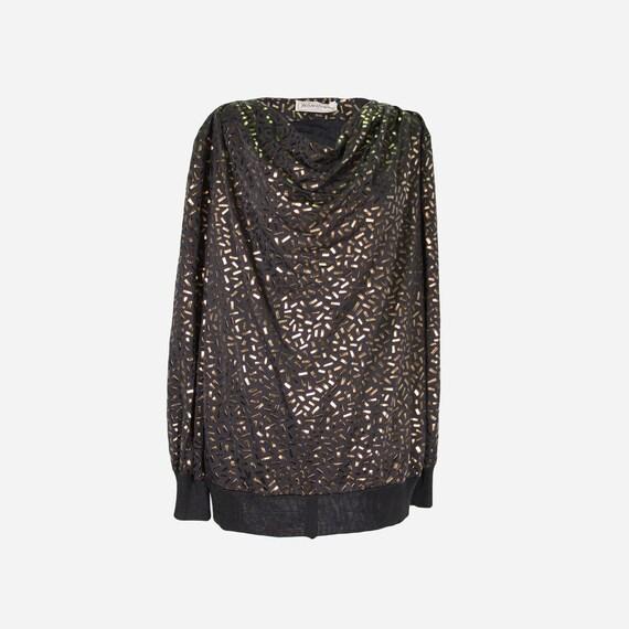 YVES SAINT LAURENT - Laminated blouse