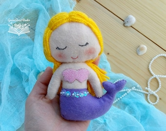 Felt Mermaid doll Mermaid Nursery Stuffed Mermaid Toy Baby Shower Gift for Girls Party Favours for Kids Nursery Decor Mermaid Party