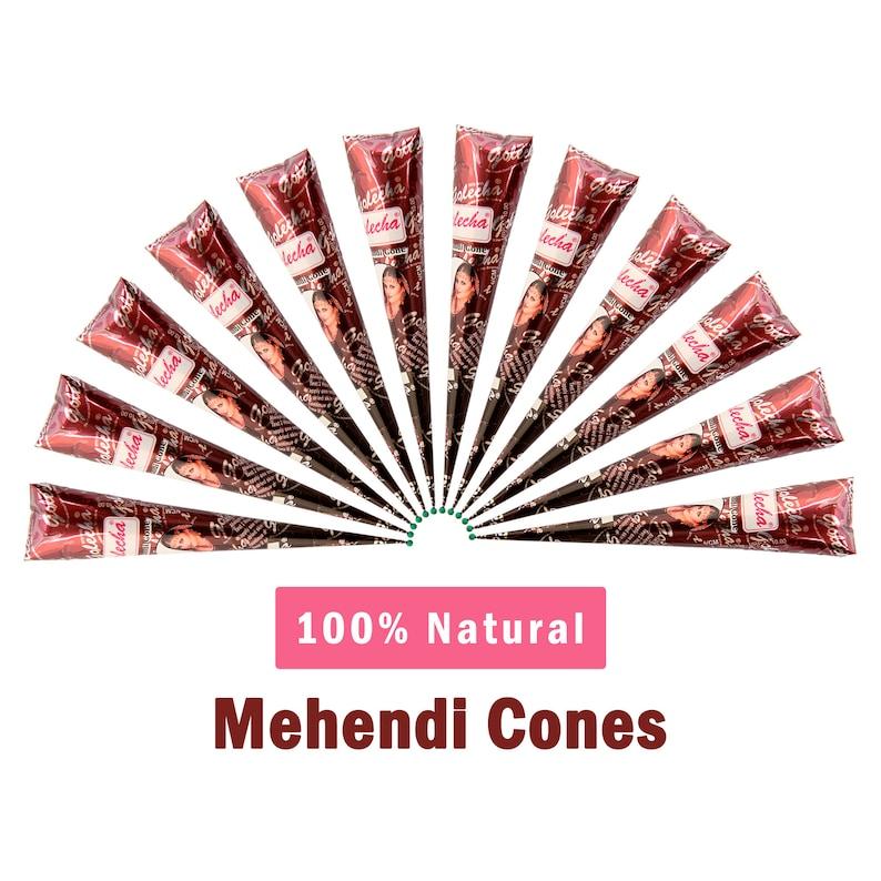 6cf716a66a647 12 Natural Henna Cones Fresh & Natural Handmade Extra Dark | Etsy
