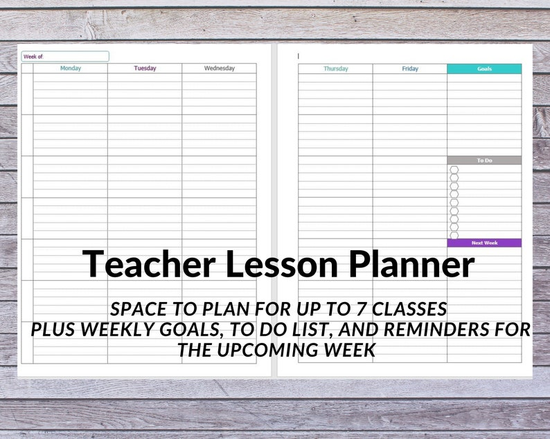 photograph about Lesson Planner Printable titled Trainer Planner Weekly Lesson Planner Printable Homeschool Lesson Planner Homeschool Planner Homeschool Printable