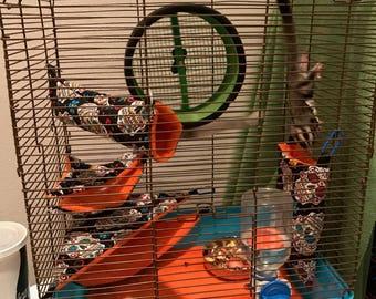 Sugar Glider cage liner/bedding set! (Small/Medium)