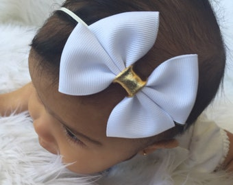 Baby Bows, Black and white baby Bows, baby headbands