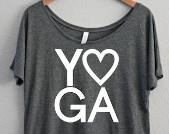 e205982cfc Yoga - Off the shoulder - Slouchy - Yoga Shirt- Yoga - Namaste - Alcohol  Shirt - Mom Shirt - Drinking t-shirt - yoga - Champagne