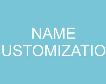 Add a custom name, or wording to shirt.