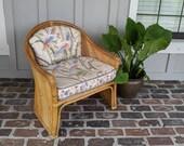 Pencil reed chair, Vintage chair, Bamboo chair, Side chair, Rattan chair, Split reed chair, Club chair, Gabriella Crespi style, Boho chair