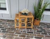 Nesting Tables, Bamboo tables, Side tables, Rattan nesting tables