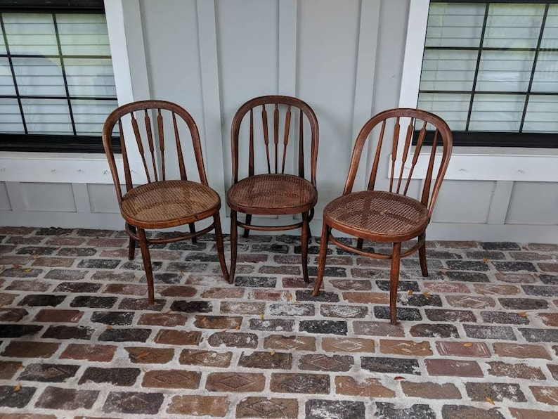 Antique Cane Chairs, Bentwood Chairs, Vintage Cane Chairs, Parlor Chairs,  Bistro Chairs, Farmhouse Chairs, European, Industrial Chairs