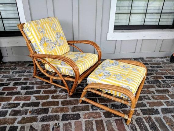Excellent Rattan Chair Vintage Beach Chair Coastal Chair Bamboo Lounge Chair Reclining Chair Patio Chair Paul Frankl Pretzel Chair Mermaid Inzonedesignstudio Interior Chair Design Inzonedesignstudiocom