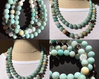 Turquoise Chunky Necklace R-3