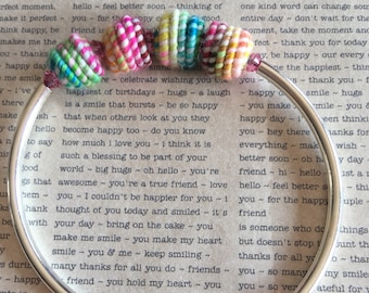 Colorful textile bracelet