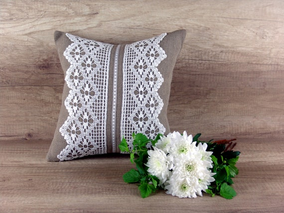 Natural Linen Pillowcase Embroidered