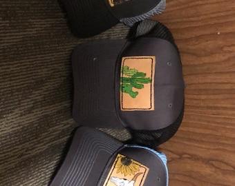 d01d0781890 Leather Patch Hats