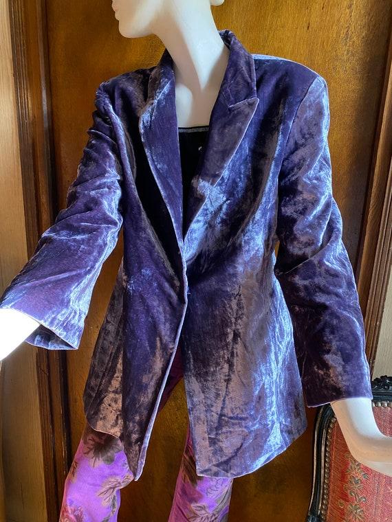 Gianfranco Ferré Studio jacket, Hit velvet, silk a