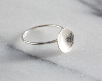 Dome Ring | Geometric Ring | Silver Stacking Rings | Sterling Silver Ring | Minimalist Ring | Circle Ring | Delicate Ring | Gifts for Her