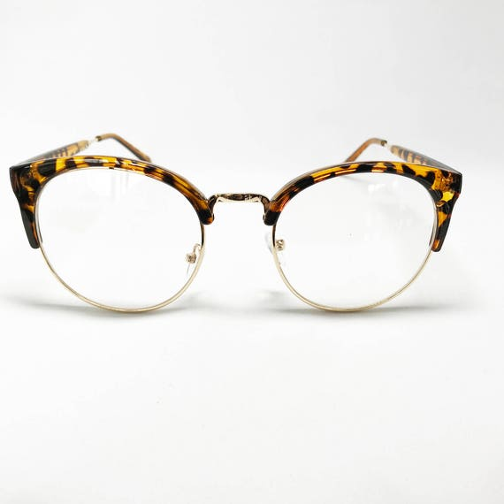 b73a171462 Womens Mens Ray Ban Clubmaster Leopard Eye Glasses Half Metal