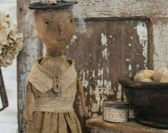 Sister Sarah  - E-PATTERN- A standing doll pattern  by Cinnamon Creek Folk Art