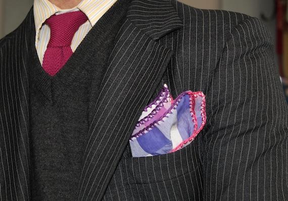 DDBESPOKESTUDIO Custom Pocket Square Pocket Square Crochet Handkerchief Crochet Pocket Square Suit Pocket Square Groomsmen gift